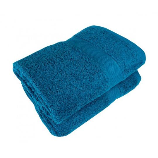 Niebieski ręcznik frotte Darsi - 40x90 cm
