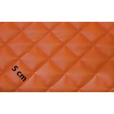 Eko Skóra Pikowana w kolorze pomarańczowym