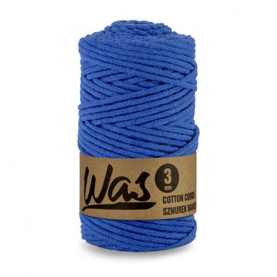Sznurek bawełniany 3mm, 100m Ciemny niebieski