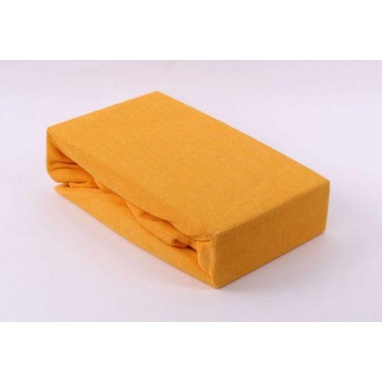 Prześcieradło frotte EXCLUSIVE z gumką 160x200 - Żółty