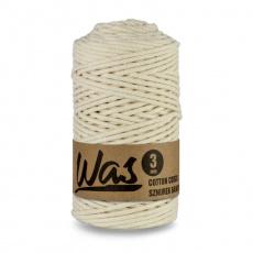 Sznurek bawełniany 3mm, 100m Kość słoniowa