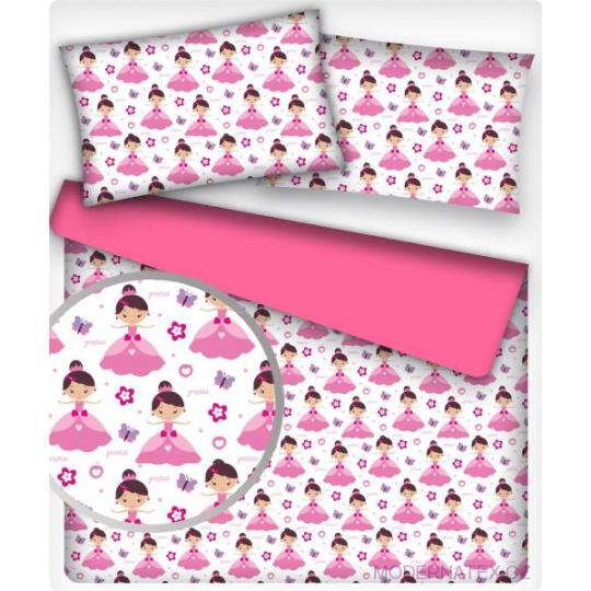Tkanina bawełniana wzór Różowa Calineczka