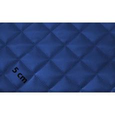 Eko Skóra Pikowana w kolorze niebieskim