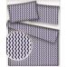 Tkanina bawełniana wzór granatowо-białe zygzaki
