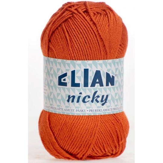 Włóczka Elian Nicky 6963 kolor pomarańczowy