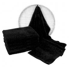 Czarny ręcznik frotte Darsi - 50x100 cm