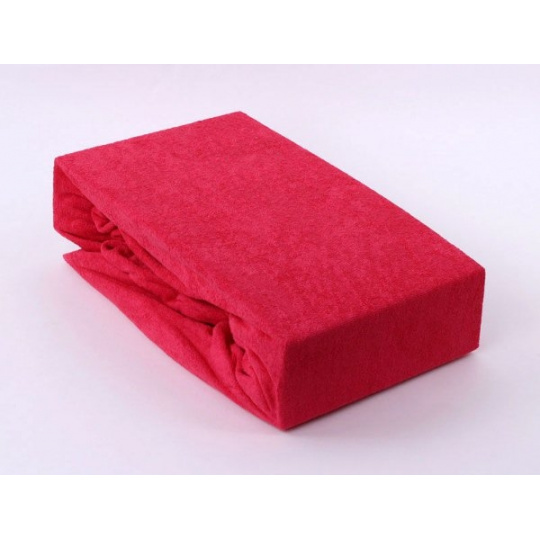 Prześcieradło frotte EXCLUSIVE z gumką 200x220 - Czerwony
