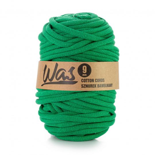 Sznurek bawełniany 9mm, 50m Zielony