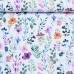 Tkanina bawełniana wzór pole kwiatów na białym tle