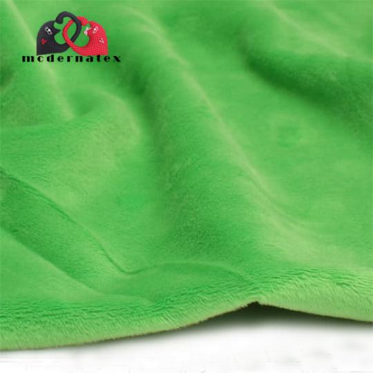 Minky kolor jednokolorowy zielony