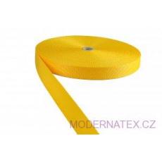 Pas polipropylenowy 25 mm - żółty