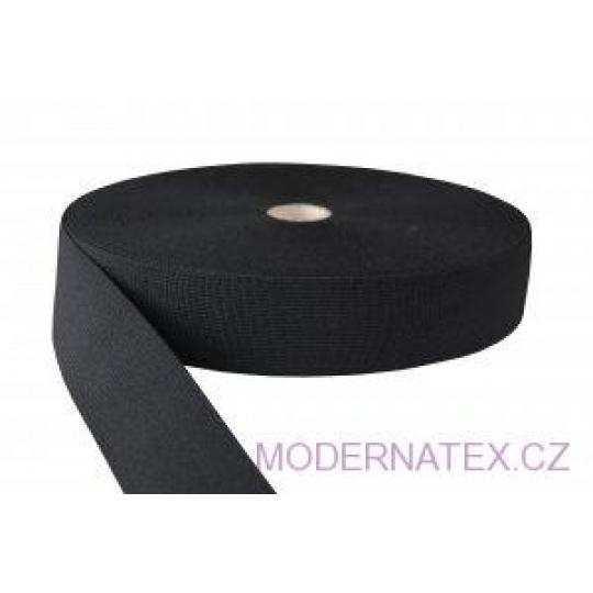 Gumka odzieżowa, szer. 40 mm - Czarna, 25 m