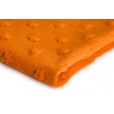 Minky w kolorze pomarańczowym ze wzorem gwiazd