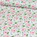 Tkanina bawełniana wzór małych różowych kwiatuszków na białym tle