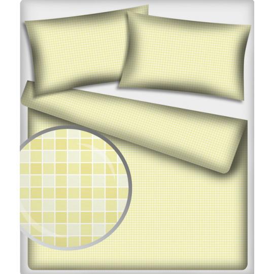 Tkanina Bawełniana wzór kostka kremowa