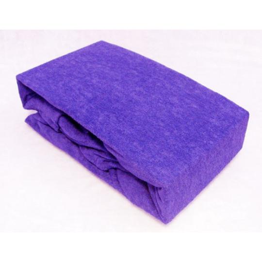 Froté prostěradlo dvoulůžko Exclusive - fialová 140x200 cm varianta fialová