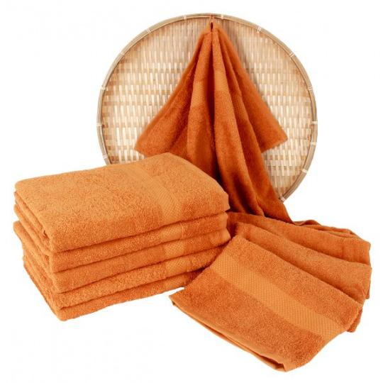 Ciemno pomarańczowy ręcznik frotte Darsi - 50x100 cm