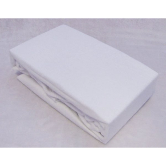 Froté prostěradlo dvoulůžko Exclusive - bílá 160x200 cm  varianta bílá