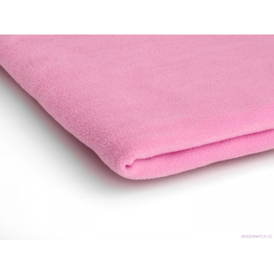 Tkanina Microfleece w kolorze różowym