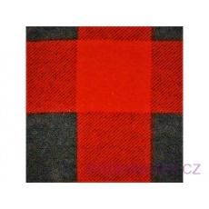 Tkanina flanelа czarno-czerwona 4x4 kratka