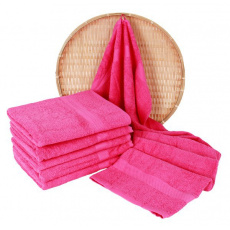 Różowy ręcznik frotte Darsi - 50x100 cm