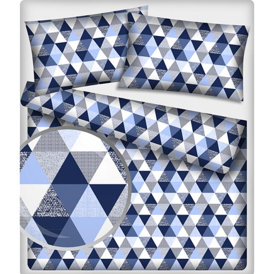 Tkanina bawełniana wzór Trójkąty 9 cm
