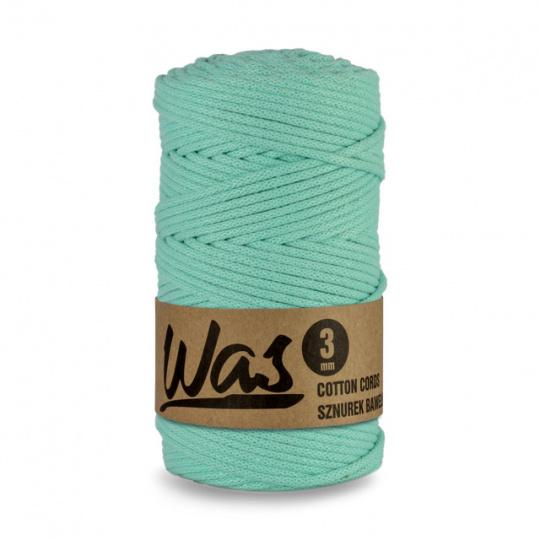 Sznurek bawełniany 3mm, 100m Seledynowy