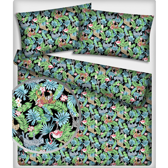 Tkanina bawełniana wzór dżungla