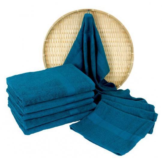 Petrolowy ręcznik kąpielowy Frotte - 70x140 cm