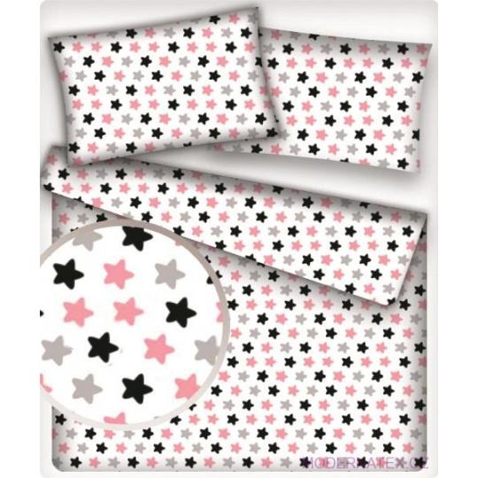 Tkanina bawełniana Pierniki różowe na białym tle