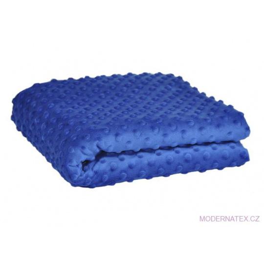 Minky niebieski z kropkami