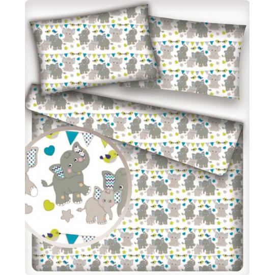 Tkanina bawełniana wzór wesołe słonie