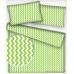 Tkanina bawełniana wzór zielono-białe zygzaki