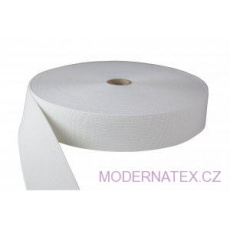 Gumka odzieżowa, szer. 50 mm - Biała, 25 m
