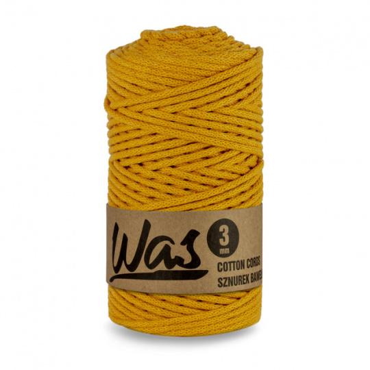 Sznurek bawełniany 3mm, 100m Musztardowy