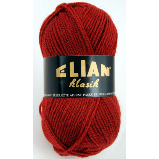 Włoczka Elian Klasik 212 kolor winny