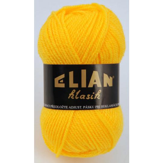Włoczka Elian Klasik 184 kolor żółty