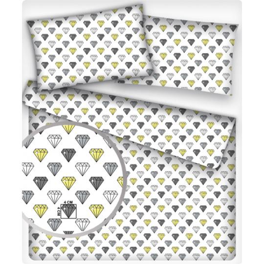 Tkanina bawełniana wzór diamentów