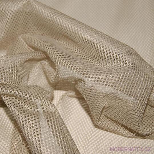 Elastyczna siatka poliestrowa beżowa, oczka 2x2 mm - DZ-008-136