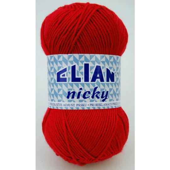 Włóczka Elian Nicky 207 kolor czerwony