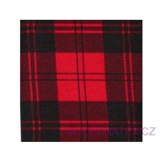 Tkanina flanelа czarno-czerwona 8x8 kratka