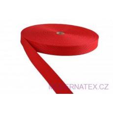 Pas polipropylenowy 25 mm - czerwony