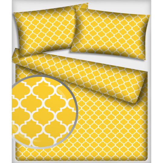 Tkanina bawełniana Maroko wzór w kolorze żółtym