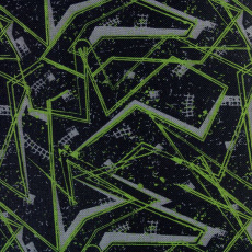 Tkanina wodoodporna KODURA wzór abstrakcja w kolorze zielonym