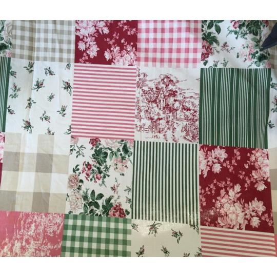 Dekoracja tkanina bawełniana wzór patchwork - VTE -77861