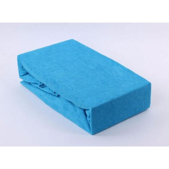 Froté prostěradlo dvoulůžko Exclusive - modrá 180x200 cm varianta modrá