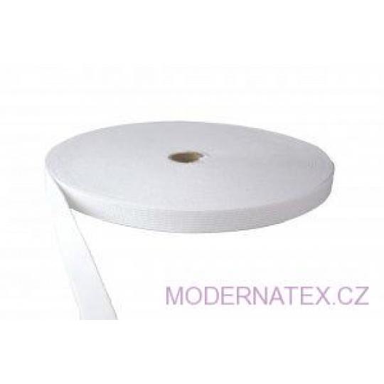 Gumka odzieżowa, szer. 25 mm - Biała, 25 m