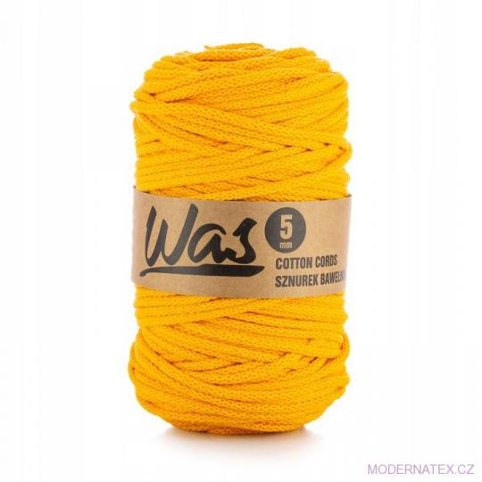 Sznurek bawełniany 5mm, 100m Ciemny żółty