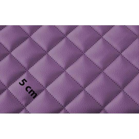 Eko Skóra Pikowana w kolorze fioletowym