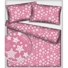 Tkanina bawełniana wzór stylowe gwiazdy na amarantowym tle